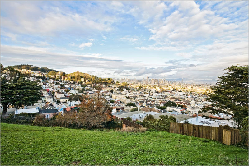 view of San Francisco from Corwin Street