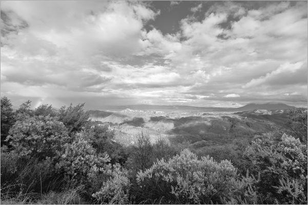 View atop The Hopland Grade California