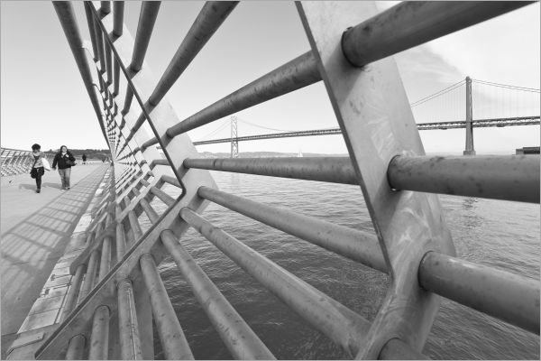 Pier 14 in San Francisco railing