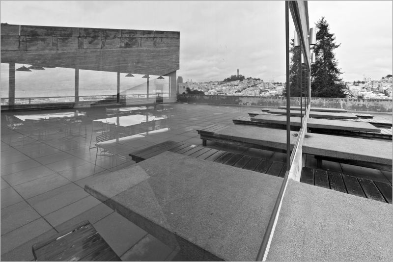 reflections on rainy north beach