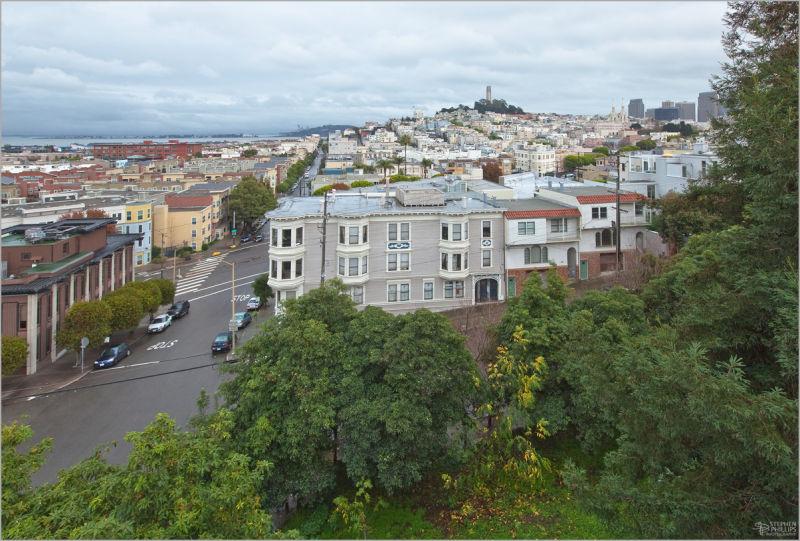 Telegraph Hill in North Beach San Francisco