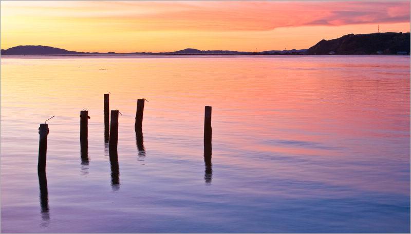 sunset in The Carquinez Strait, California