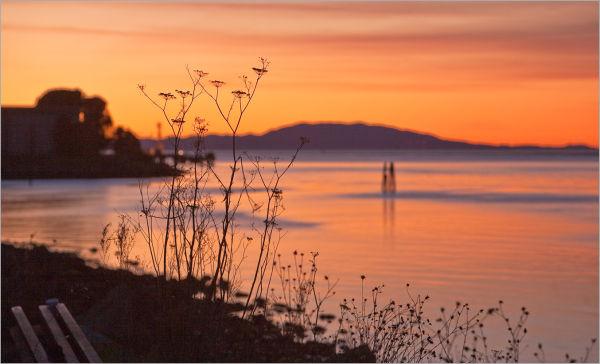 Carquinez Strait sunset California