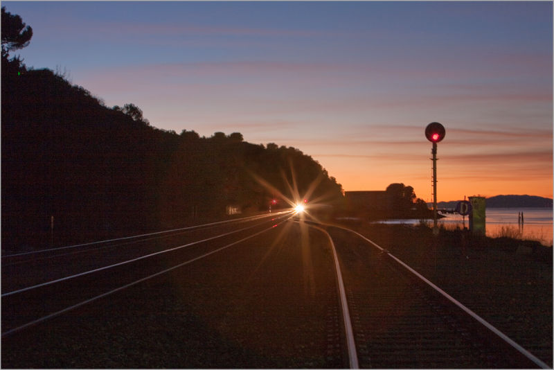 Carquinez Sunset / the train