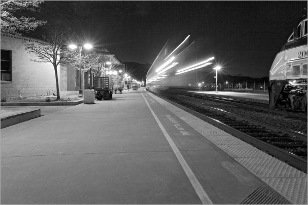 Amtrak trains in Martinez, California