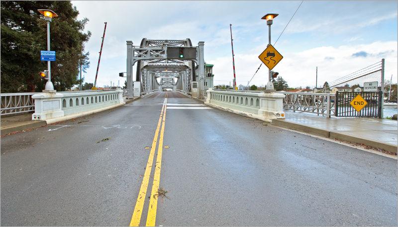Park Street Bridge into Alameda, California