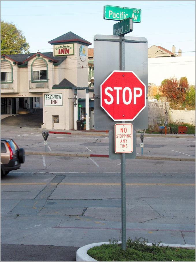 Stop at No-Stopping Santa Cruz California
