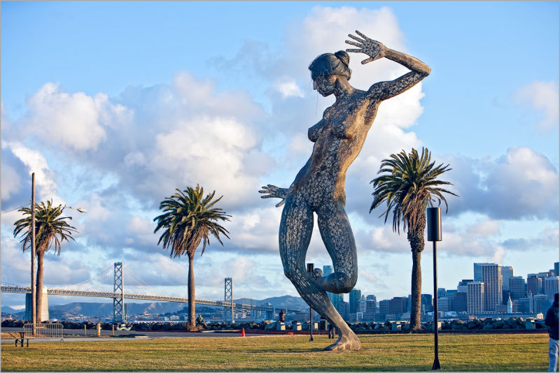 Bliss Dance art sculpture on Treasure Island