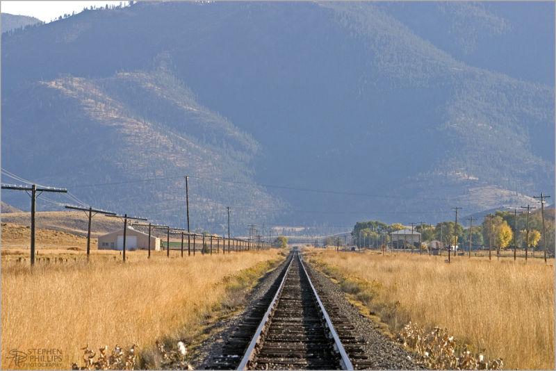 Rail bed through Gazelle, California