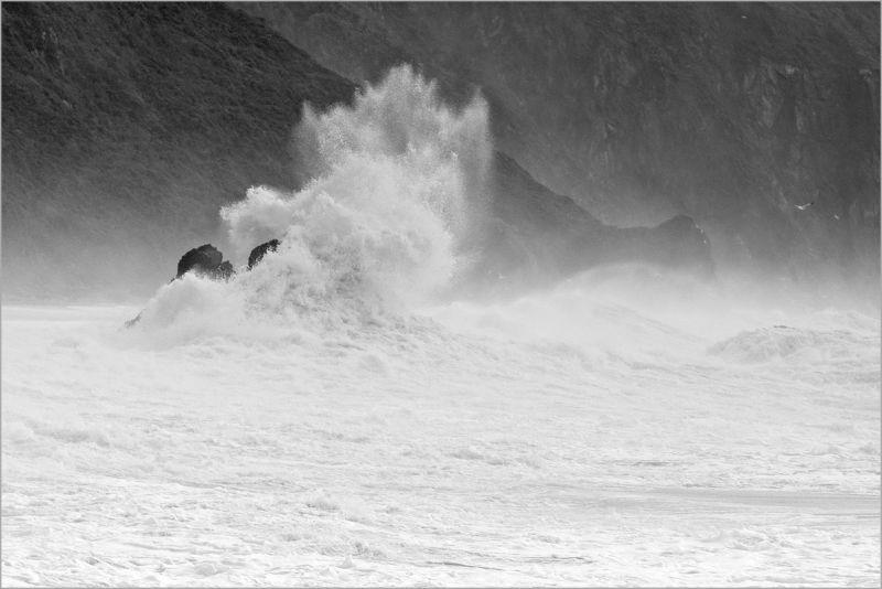 Storm surge at Goat Rock