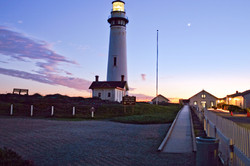 Pigeon Point Lighthouse at dusk