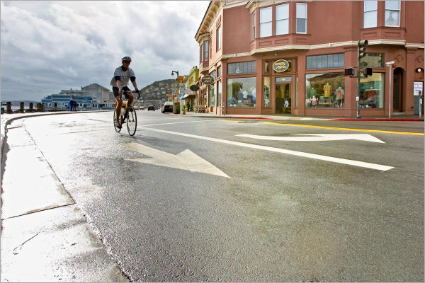 Cyclist in Sausalito