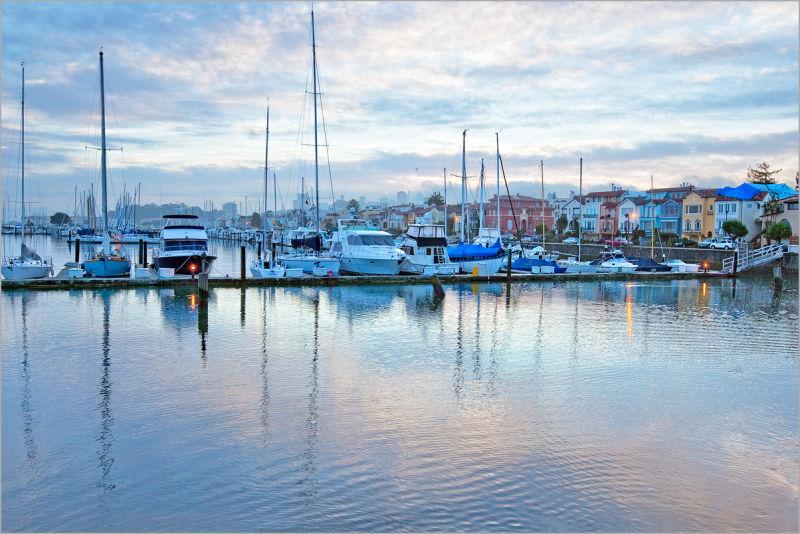 Marina District in San Francisco at dawn