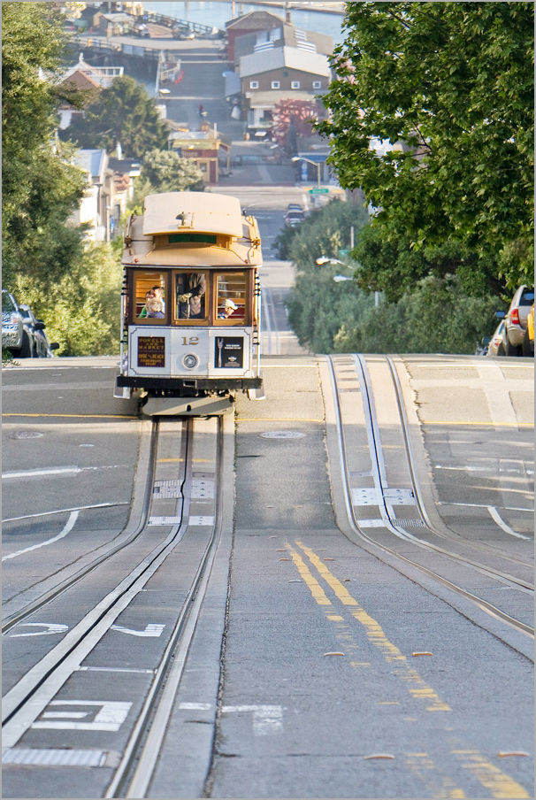 Hyde Street cable car in San Francisco