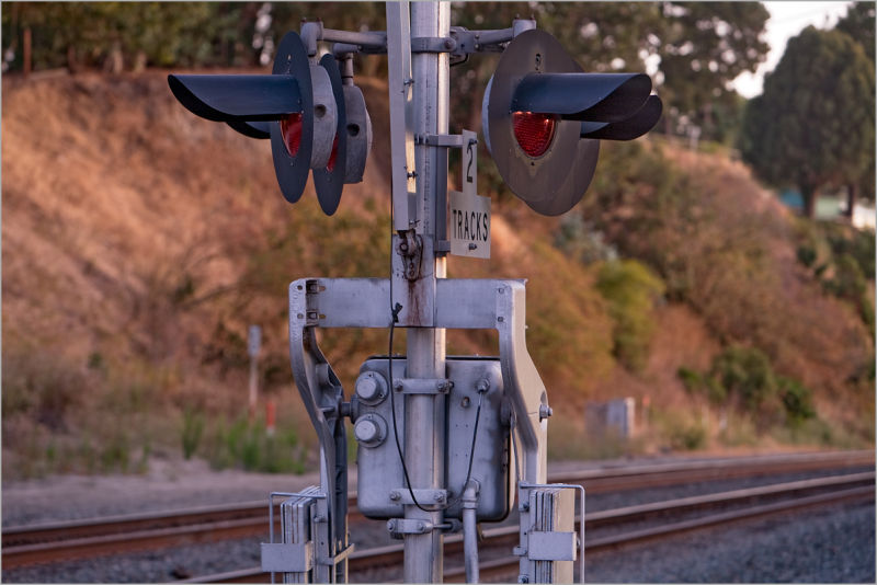 Rail crossing in Pinole california