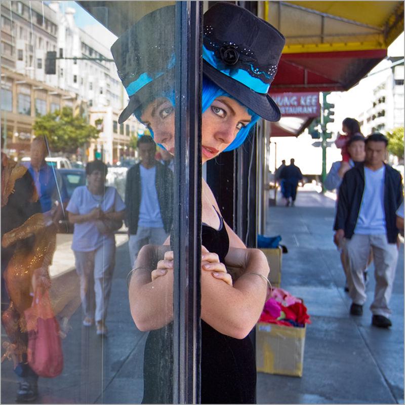 Jesse in blue doorway