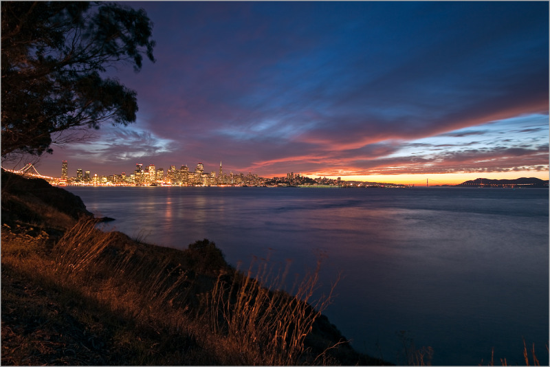 glorious San Francisco skyline sunset