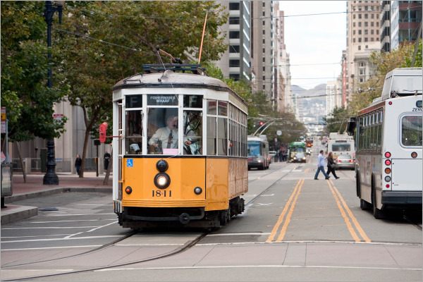 Historic Trolley car in San Francisco