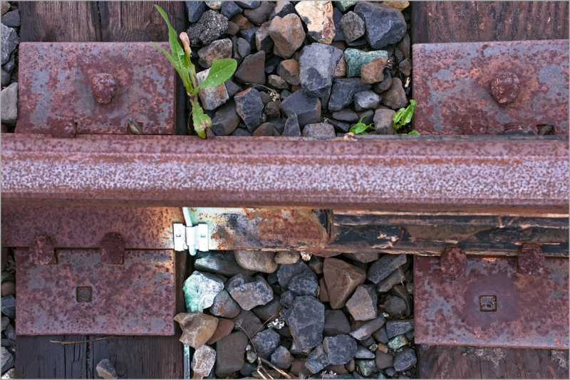 train rail bed