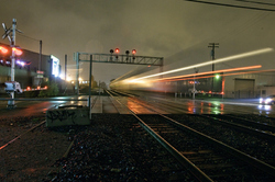 rainy night / eastbound train