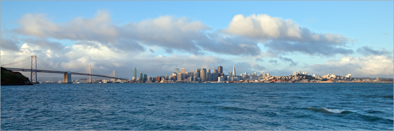 springtime skyline San Francisco waterfront