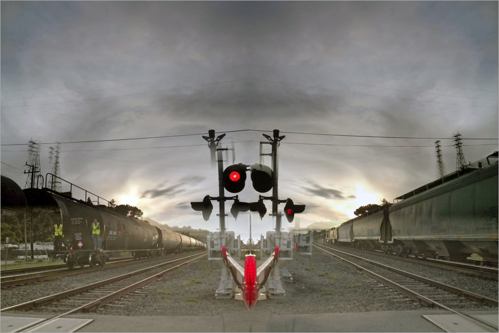 trains crossing