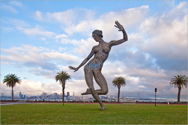 sculpture Bliss Dance at Dawn