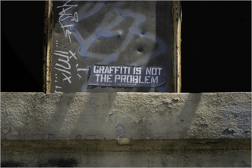 graffiti is not the problem