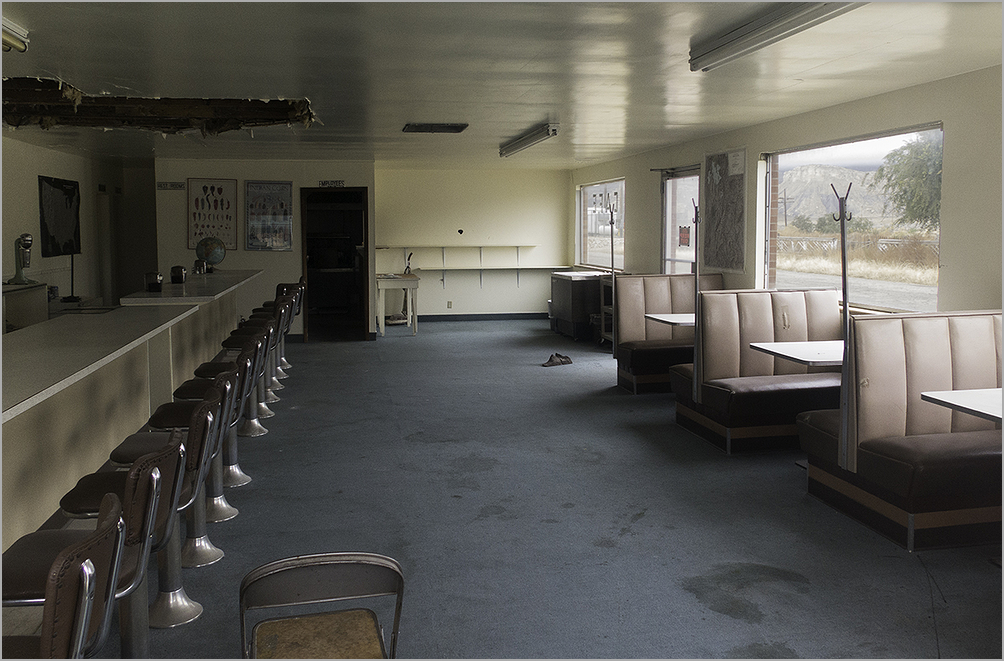 Old abandoned diner in Thompson Springs, Utah