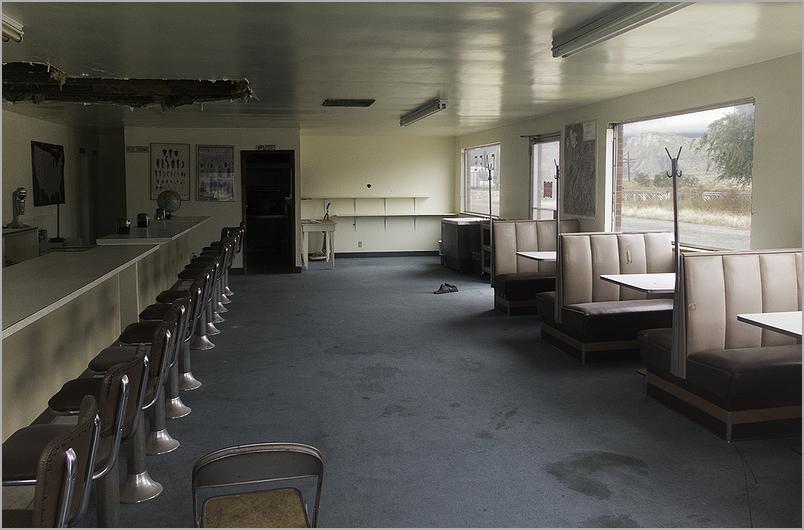 Old abandoned diner in Thompson Springs, Utah