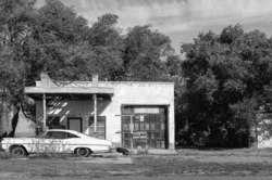 abandoned gas station along route 66 in New Mexico