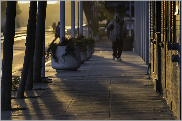 Jack London Square Oakland California at sunset