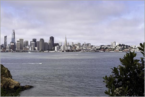 San Francisco Skyline Cloudy Beginnings