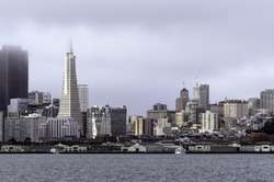 San Francisco Waterfront on a Foggy Morning