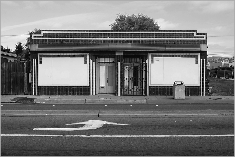 Closed storefront in richmond, California