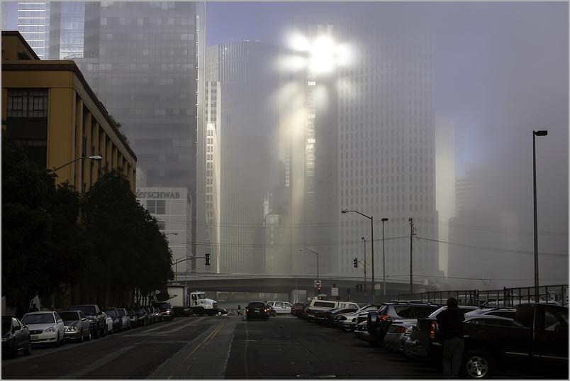Sunburst Through Lifting Fog