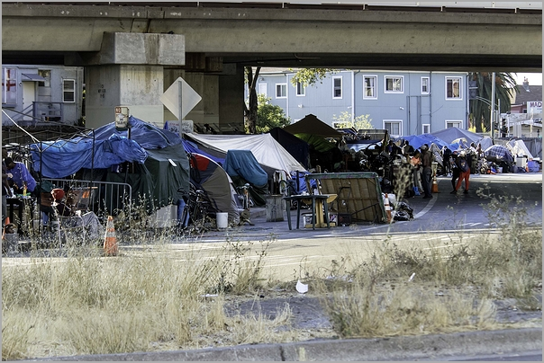 Urban Homeless Encampment