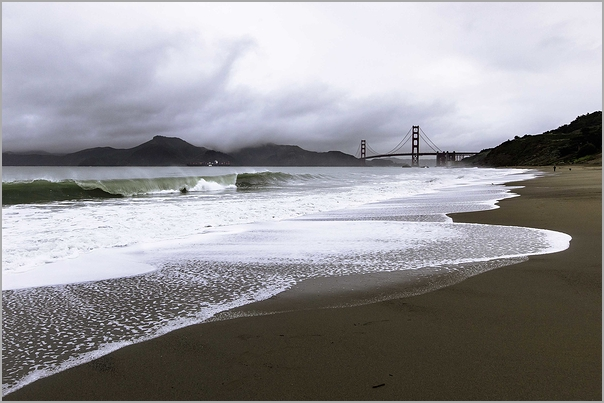 Gray Day at Baker Beach
