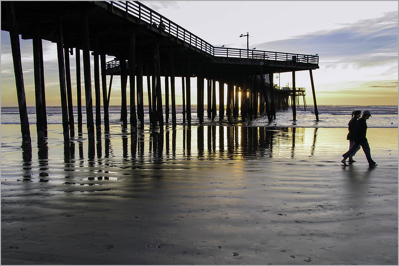 Sunset Stroll at Pismo Beach