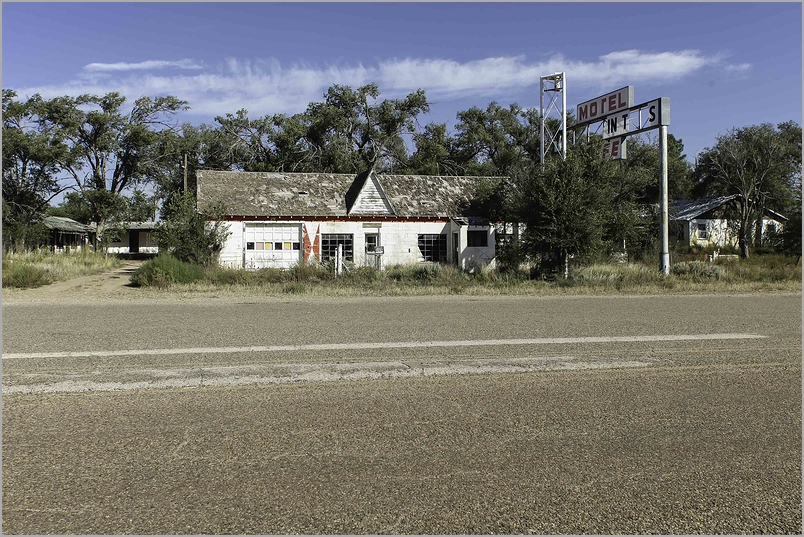 Abandoned Motel and Cabins - Route 66 in New Mexic