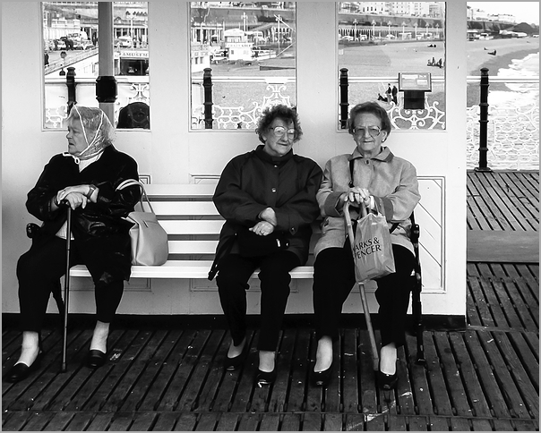 Three Women on The Pier