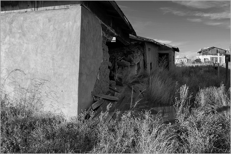 Ruins of home in Chimayo, New Mexico