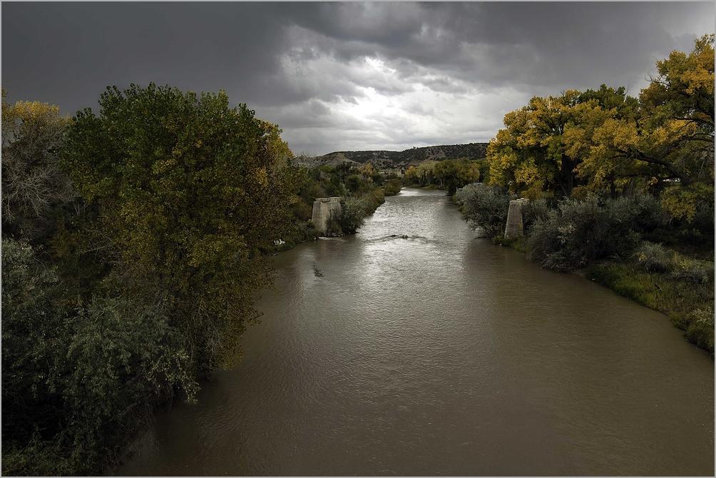 Rain Storm On The Animas River - Colorado