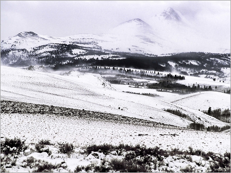 Winter Storm in The Sierra Mountains
