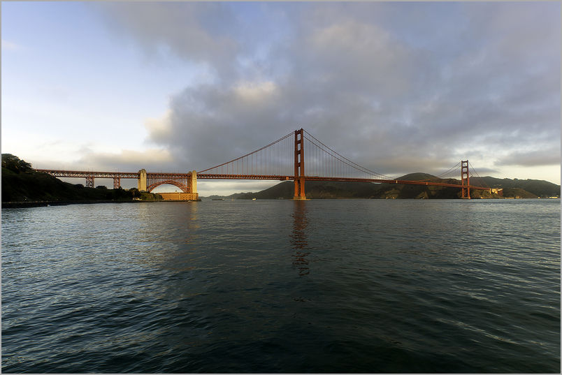 First Light Touches The Golden Gate