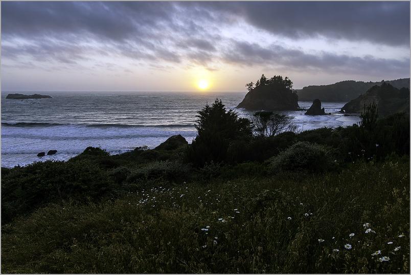 Sunset at Trinidad Head - California
