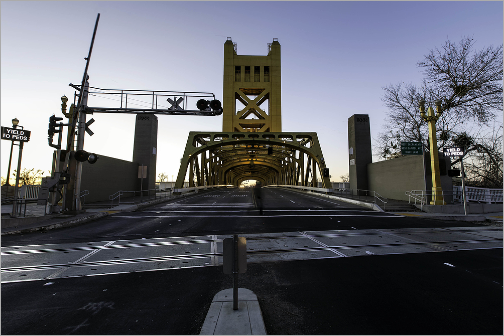 Sunset on The 'K' Street Bridge - Sacramento, CA