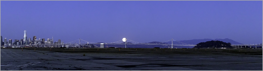 Moon Set Over The Marin Headlands