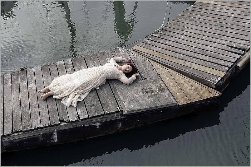 Drifting - a woman afloat