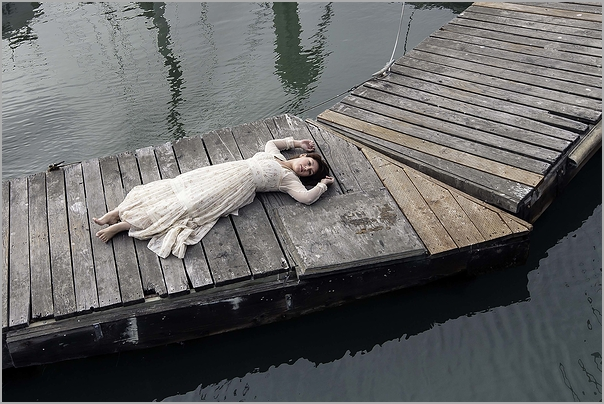 Drifting - a woman afloat